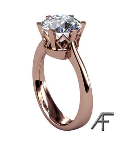 enstensring diamant roseguld