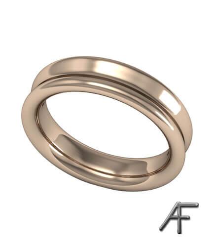 guldring 5 mm och höjd 2,3 mm