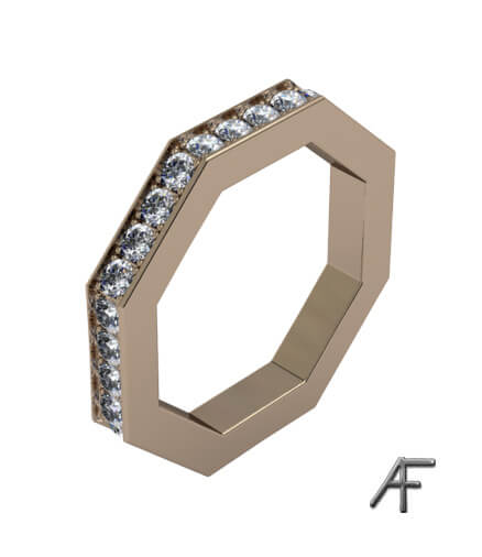 Liz - alliansring med diamanter