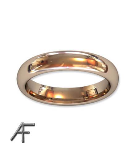 omarbete guld slät ring 4 mm