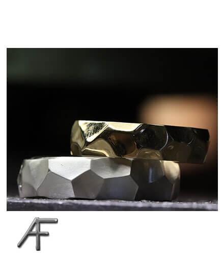 ruffy handgjord ring guld eller silver