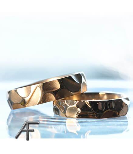 ruffy handgjord guldring