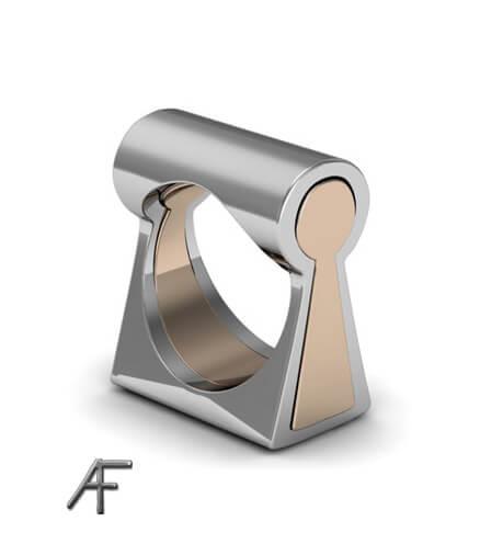 keyhole vigselring designad av Anders Fors