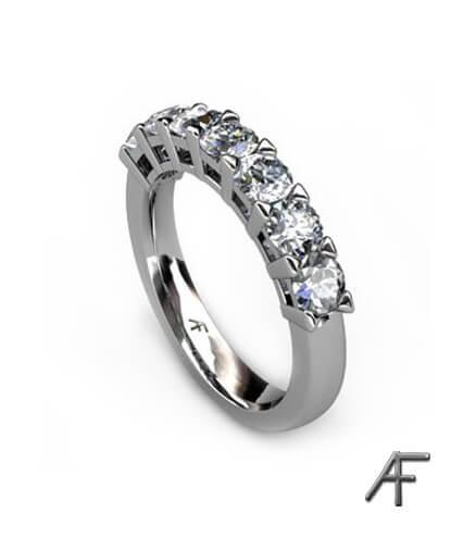 vitguldsring allians 7 diamanter