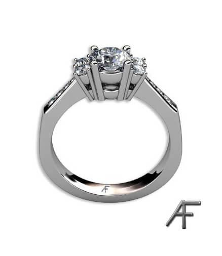 diamantring 18 k vitguld