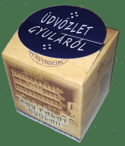 Papírdobozos minilekvár - üdvözlet Gyuláról