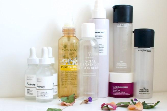 Loppuneet kosmetiikkatuotteet kasvoille