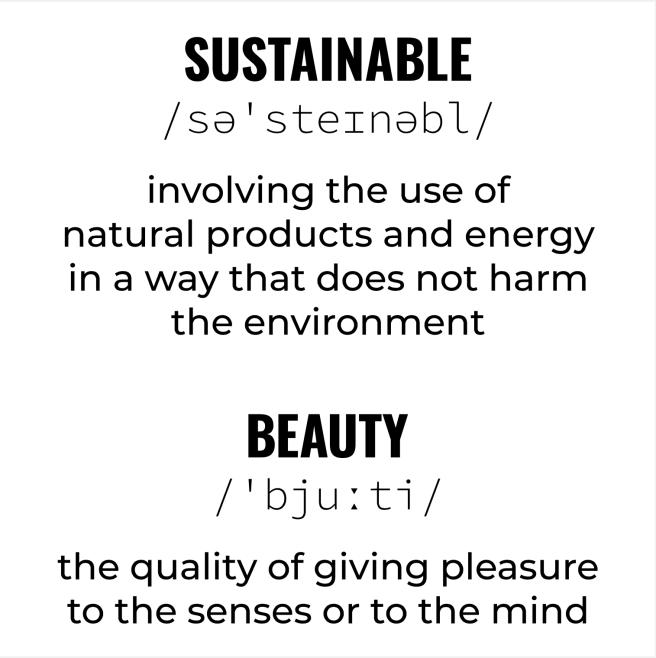 Sustainable Beauty -käännös