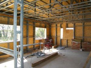 OSB - perete pentru structura metalica