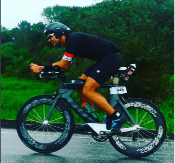 Felipe Nazareth, aluno da Viiva Assessoria, no ironman Brasil 2017