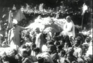 mahatma gandhi funeral video