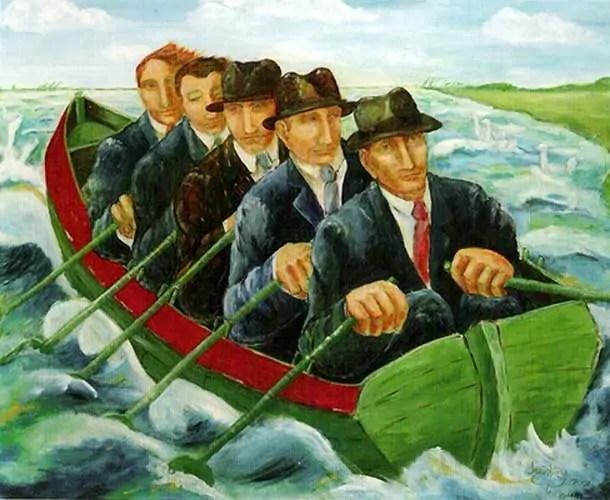 vijfroeiersineenboot