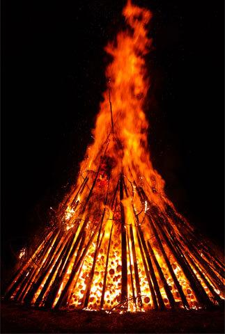 Костер и его характеристики: огонь, температура, простота ...