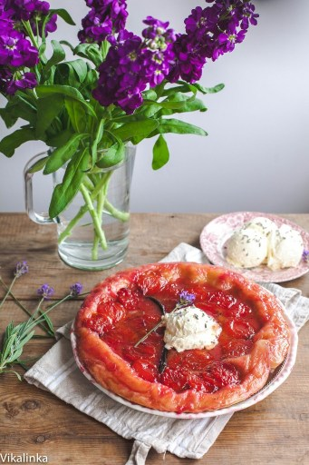 French Plum Tarte Tatin