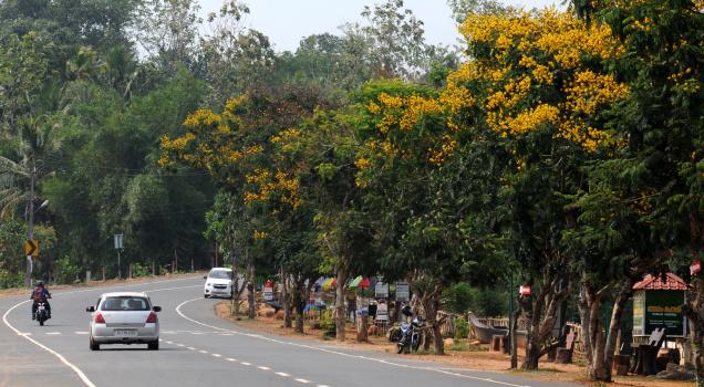 A panoramic view of Naalumanikkaattu, a roadside tourist spot on Manarcadu-Ettumanoor Bypass near Kottayam, Kerala.