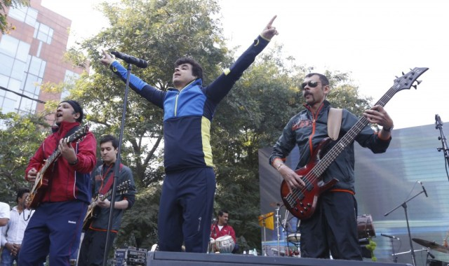Palash Sen along with his band Euphoria