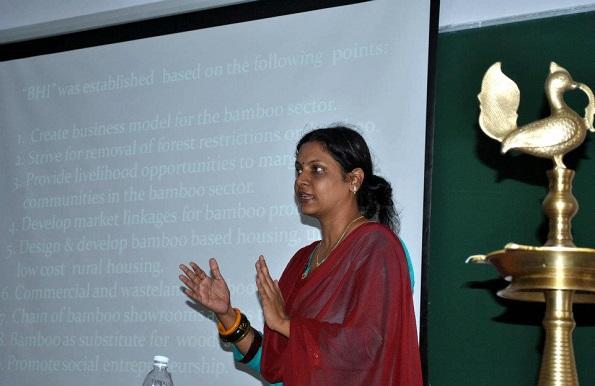 Aruna addressing a session at BITS Pilani.