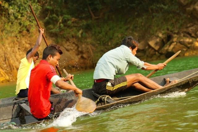 Canoe races, of both men and women, drew loud cheers.
