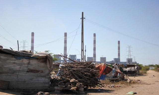 Slums and industries around Mundra
