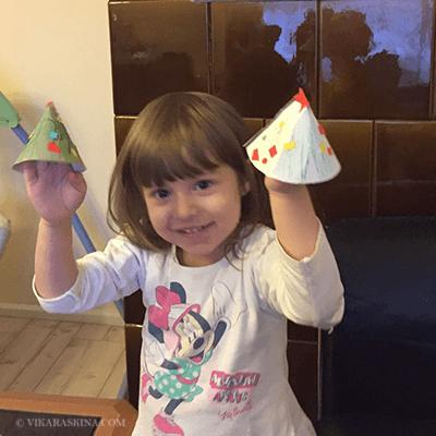 vika raskina - girl working on handmade toy