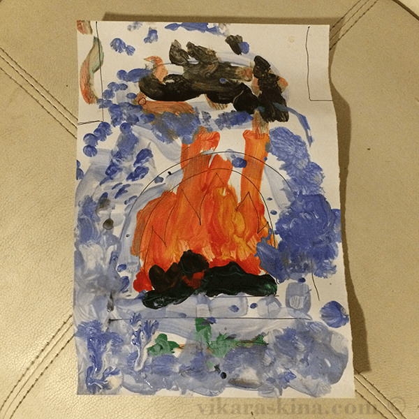 вика раскина - рисуем печь