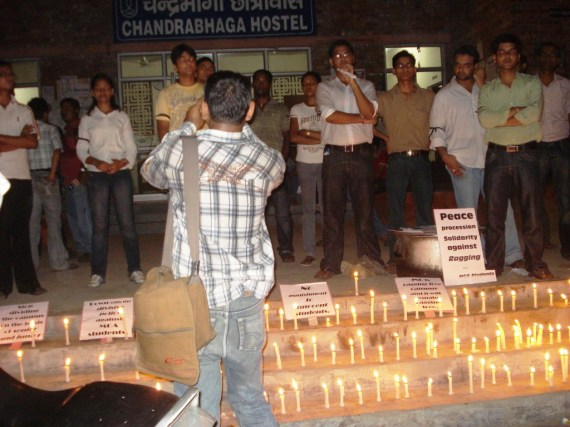 JNU Ragging issue candle light march