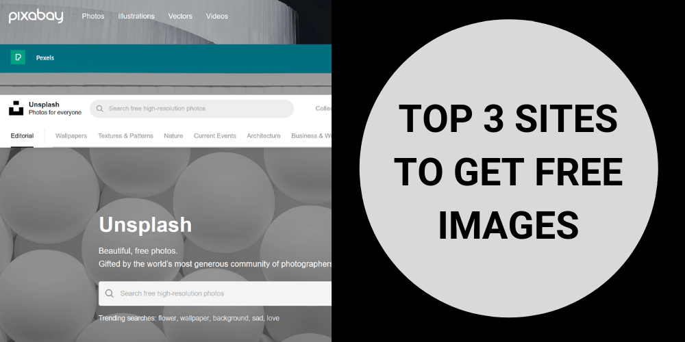 Top 3 sites to get free images for your website or blog