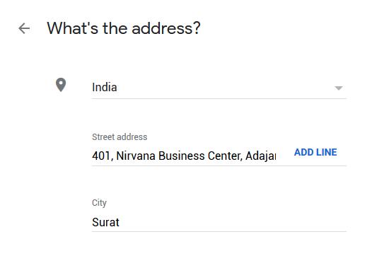 Google My Business Listing Step 2