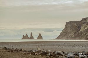 View of Reynisdrangar from Vik Beach