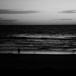 Early morning fisherman, Ormond Beach, FL