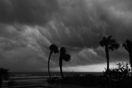 Storm rolling up the coast, Ormond Beach, FL