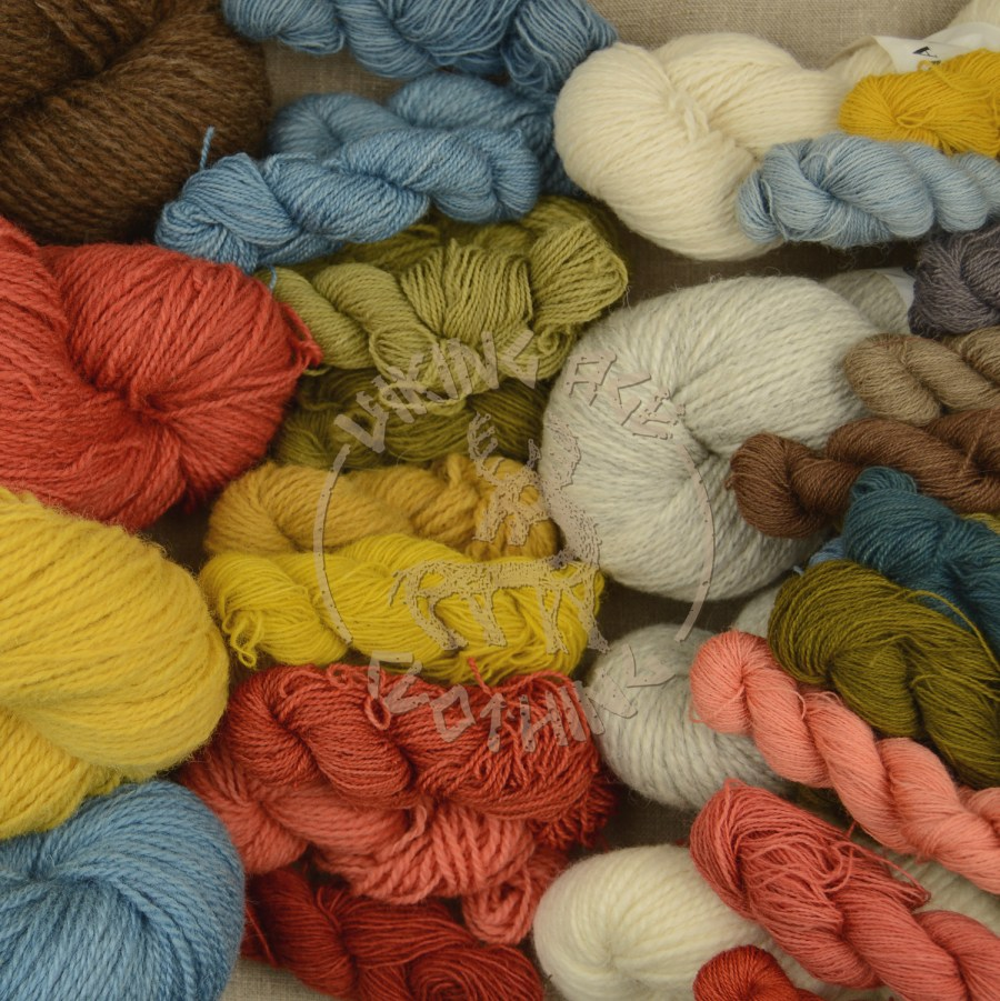 Wool yarns - plant-dyed and in natural colours