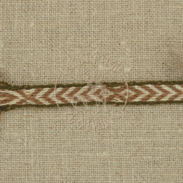 Kaupang band brown and dark olive