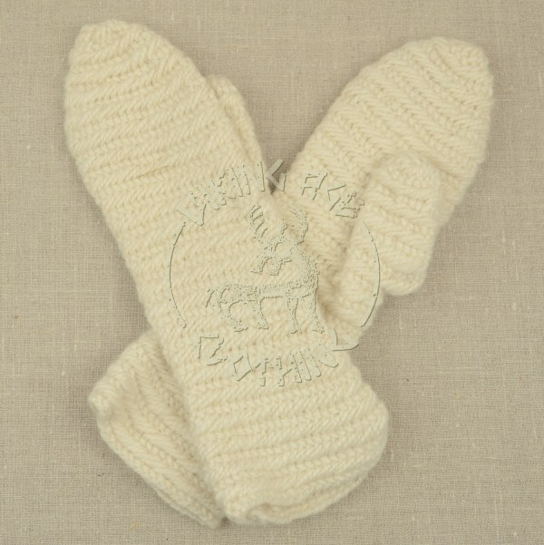 Nalbound mittens from Iceland - white