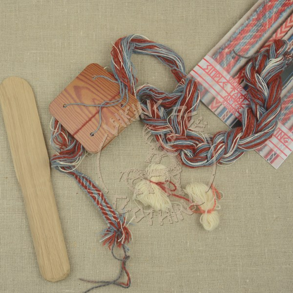 Kit for tablet weave from Iceland - red and blue