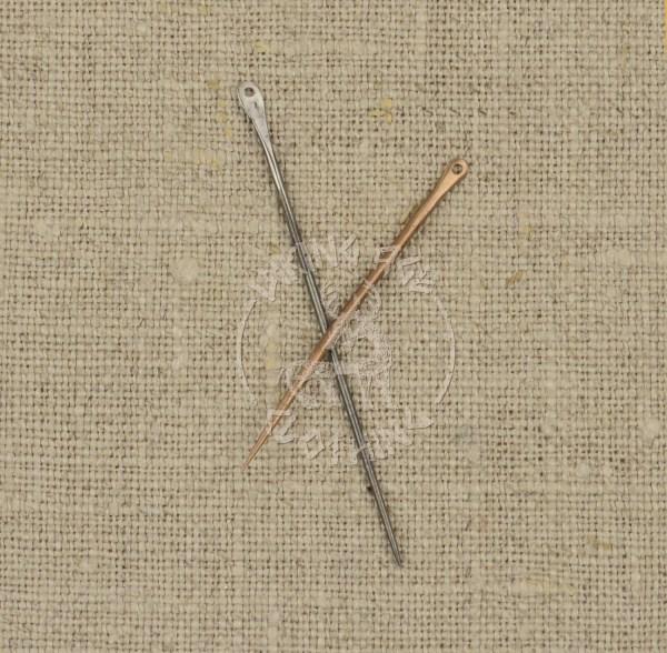 Handmade sewing needles - bronze and iron