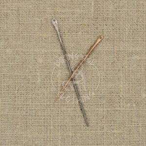 Handmade sewing needles - bronze and iron