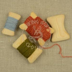 Handmade wooden thread winders