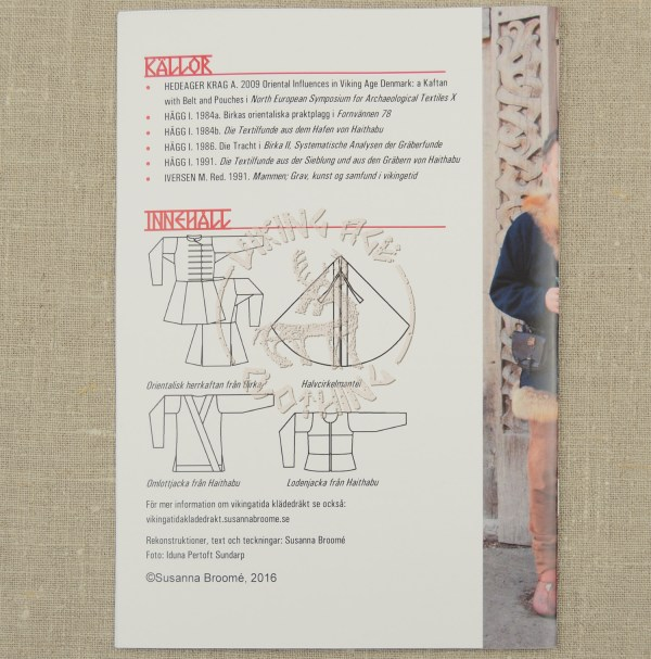 Outdoor clothing booklet - back