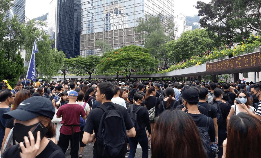Protests in Hong Kong; photo Jacky Kwok