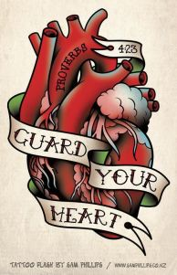 Human-heart-with-message-Gaurd-Your-Heart-Tattoo-Design-by-Sam-Phillips