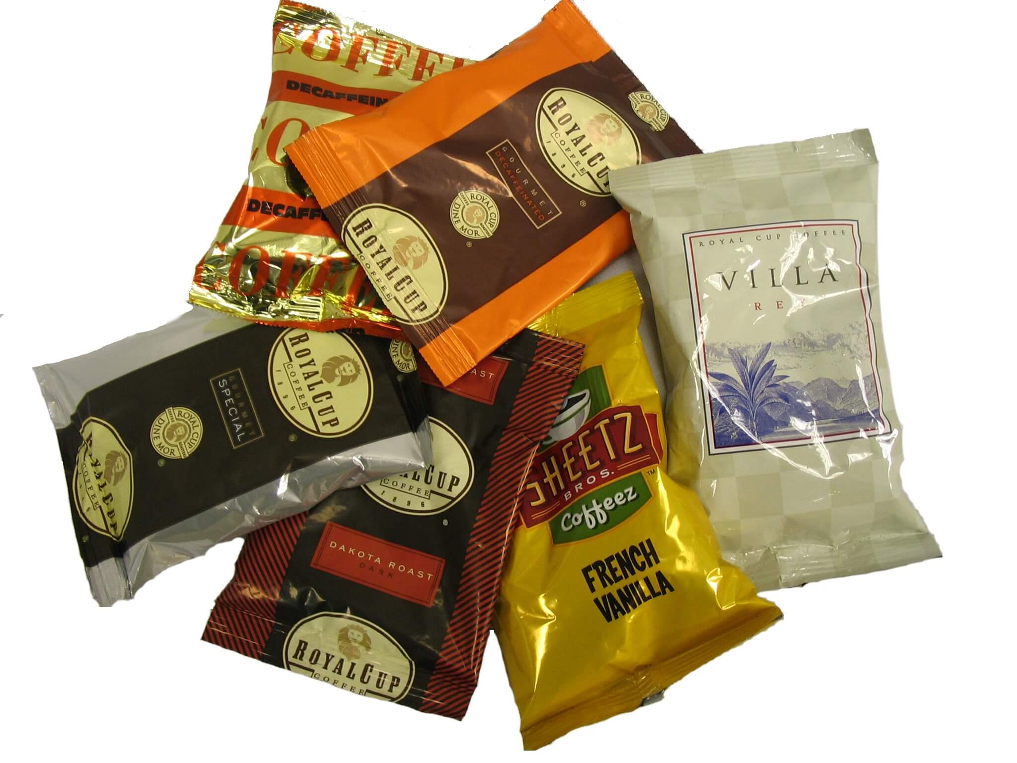 selecting coffee packaging