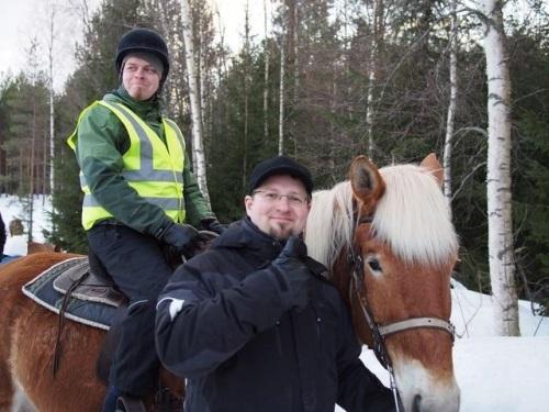 Horseback riding trek