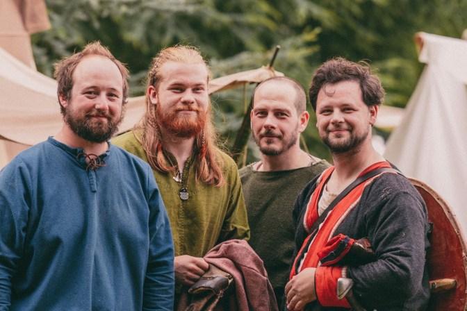 Image shows 4 Viking a warriors