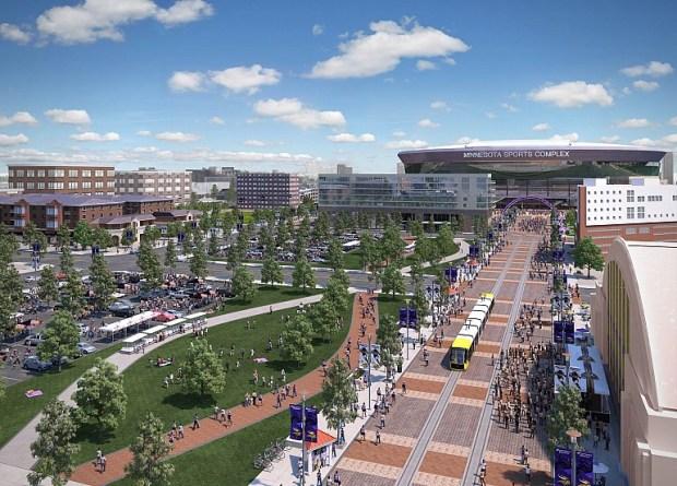 New Stadium Fan Promenade