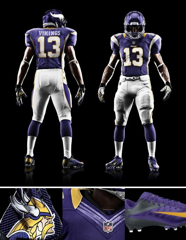 New Vikings Nike Uniforms