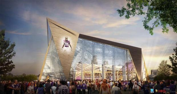 New Vikings Stadium Front Rendering
