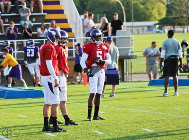 Quarterback Trio - Vikings Training Camp 2014