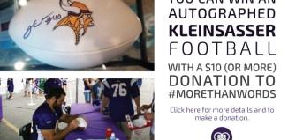 #MoreThanWords Kleinsasser Autograph