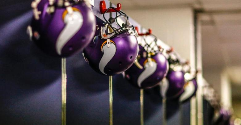 Vikings Helmets On Lockers